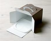 ホールケーキ箱ならなんでもピッタリお似合い、コスト重視のプラスチックトレー