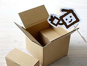 hacobo!に入れてみました。ロールケーキ箱はどうだろう?