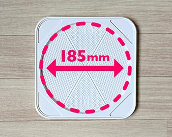 プラスチックトレー白に入るホールケーキサイズの説明