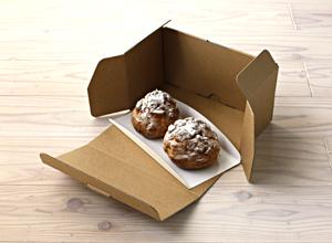 ショート・カットケーキ、シュークリームなど、ほかのケーキも入るロールケーキ箱なハコマルシェロールケーキ箱