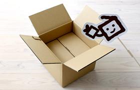 ロールケーキ箱とケーキ箱宅配・輸送箱ダンボールとのコラボ画像02