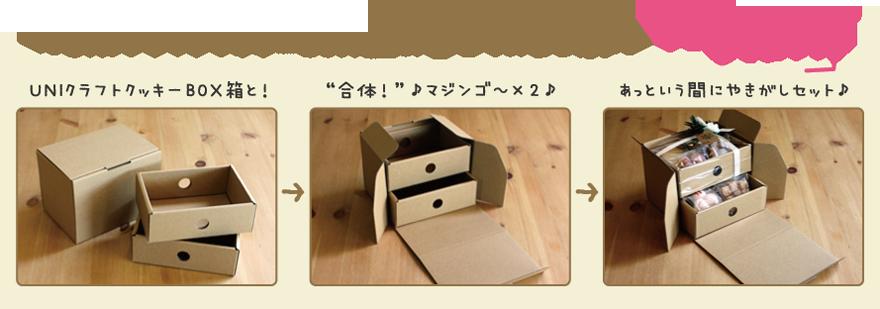 UNIクラフトクッキーBOXと組み合せてみました。