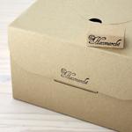 コストをかけないでシーズン毎の箱のカスタマイズをしたいケーキ屋さんにおすすめのホールケーキ箱、シフォンケーキ箱用オリジナルスタンプです。